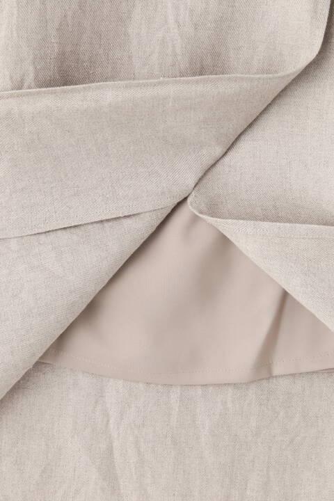 [一部店舗限定] 40/-リネンツイルスカート