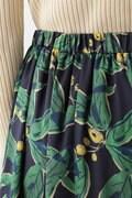 《arrive paris》フラワープリントスカート