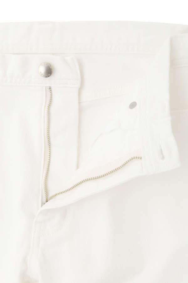 白黒デニムパンツ