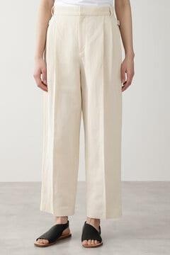 【先行予約 4月下旬-5月上旬入荷予定】≪Japan couture≫綿麻ギャバパンツ
