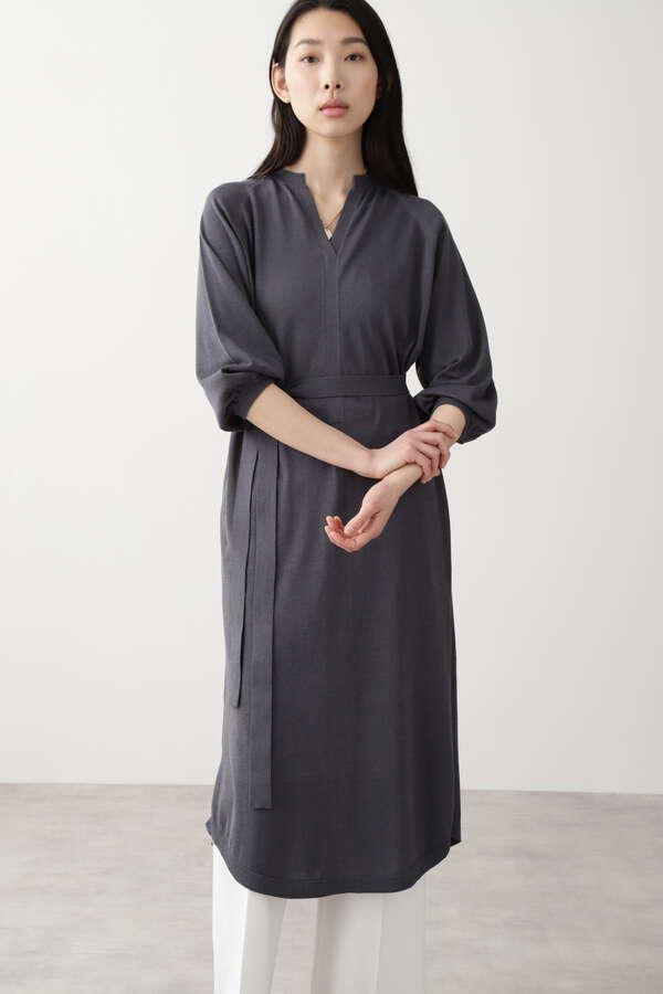 コットン麻シルクワンピース