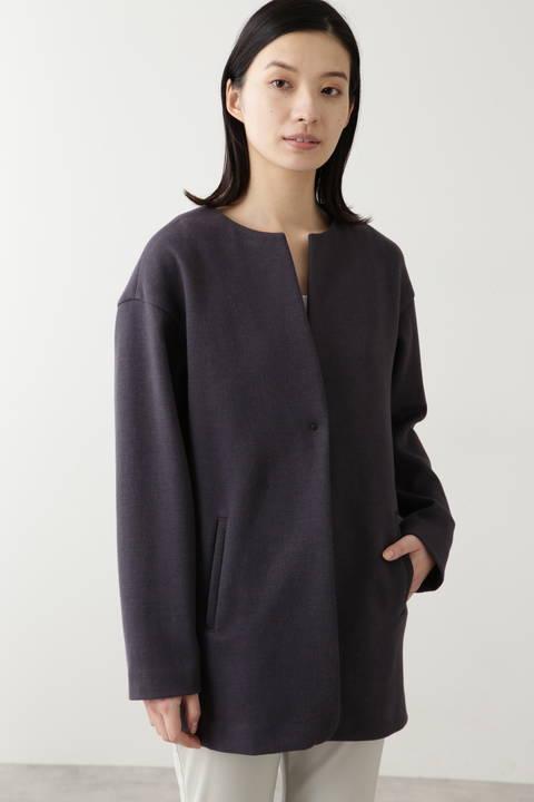 綿麻ダンボールニットコート