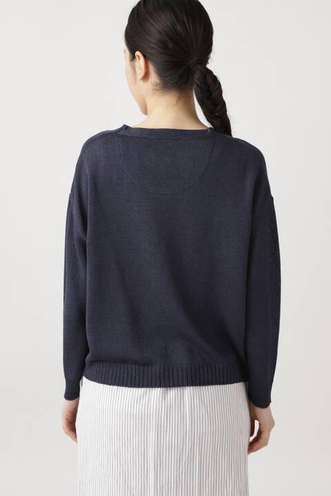 ≪Japan couture≫シルク麻プルオーバーニット
