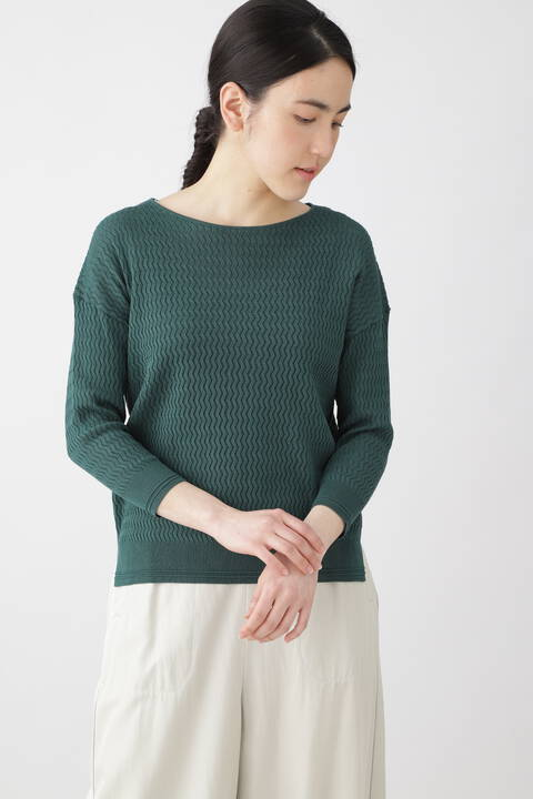 透かし編みニット