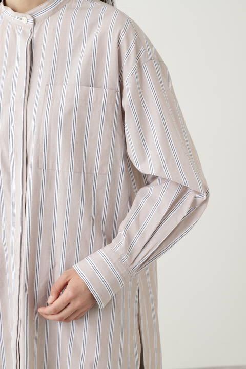 ≪arrive 5e≫ ①ビンテージワッシャータイプライター②ストライプブロー チュニックシャツ