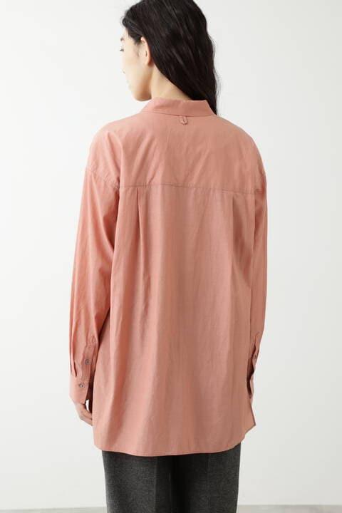 キュプラ綿ブロードシャツ