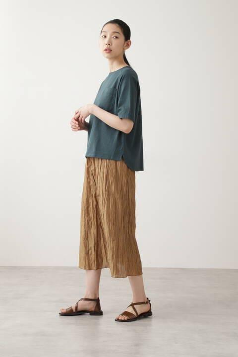 カールマイヤープリーツチンツ加工スカート