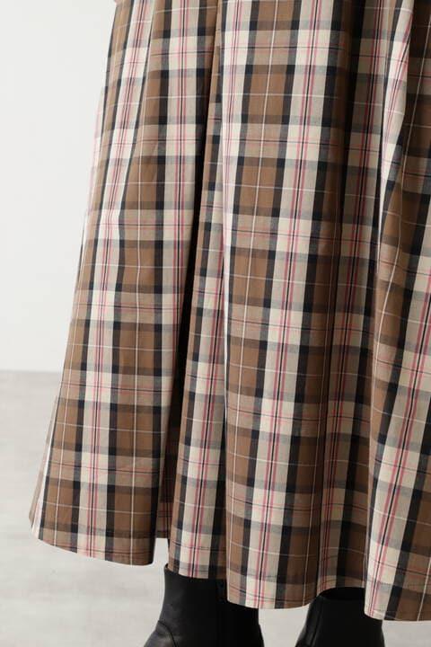 ≪arrive 5e≫ ハイカウントビッグチェックビーチスカート