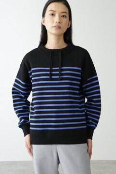 【先行予約 11月中旬-下旬入荷予定】≪Japan Couture≫スムースボーダーニットプルオーバー