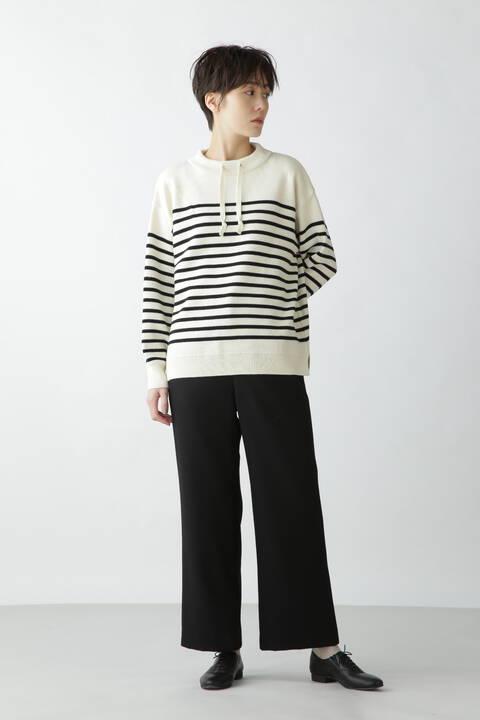 ≪Japan Couture≫スムースボーダーニットプルオーバー