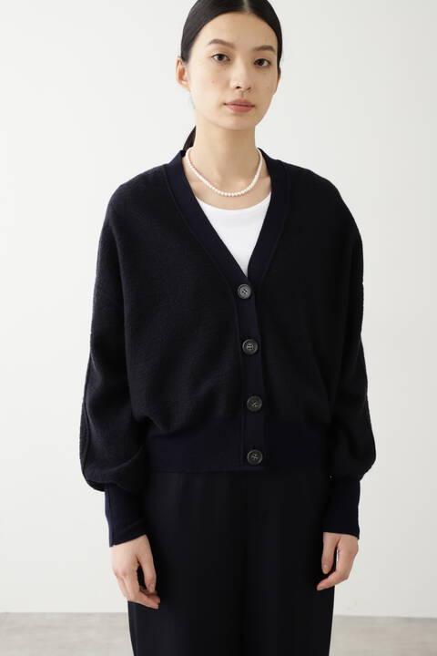 ≪Japan couture≫強縮ライト天竺カーディガン