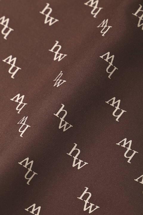 オリジナルhwロゴシルクスカーフ