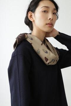 オリジナル モチーフ柄シルクスカーフ