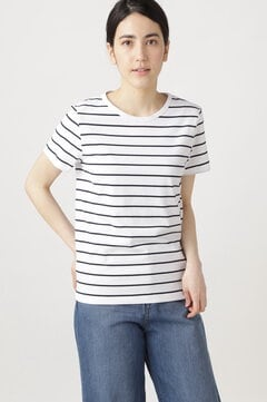 新きょう綿ボーダーTシャツ