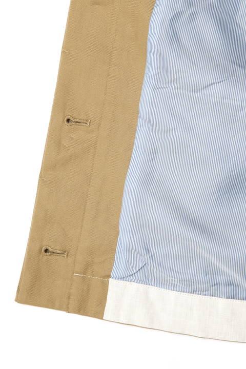 綿麻ムラ糸フードブルゾン