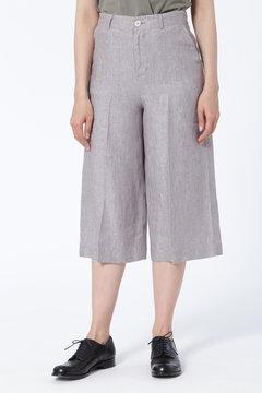 高密度麻パンツ