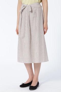 綿シルクネップリボンスカート