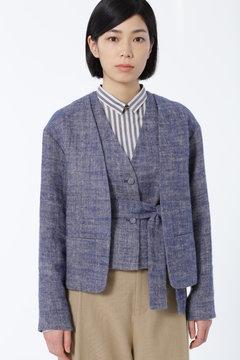 リネンヘリンボン起毛 ジャケット [HUMAN WOMAN Japan couture]