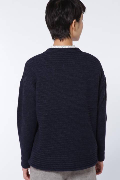 ガーター編みプルオーバー