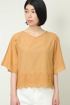インドカットワーク刺繍ブラウス