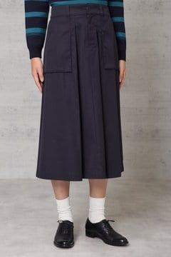 高密度ツイルマチポケット付スカート