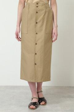 A 綿麻Iラインスカート