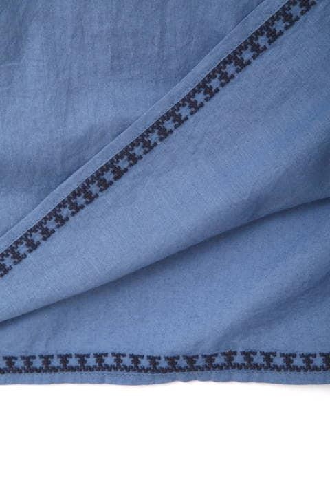 インドクロスステッチ刺繍ワンピース