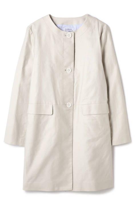 [店舗限定販売]綿麻ライトモールスキンノーカラーコート