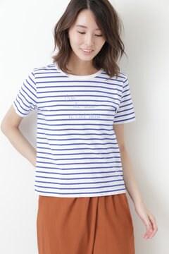 GraphicボーダーTシャツ