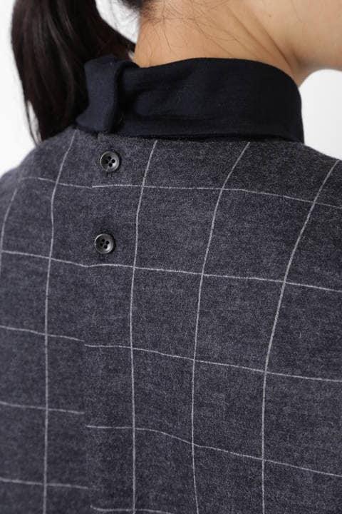 ≪Japan couture≫ウールジャージー衿取り外しブラウス
