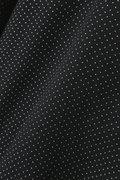 綿シルクツイル変形ドットプリントブラウス