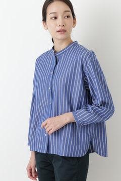 【先行予約 8月上旬入荷予定】ブロードストライプスタンドカラーシャツ