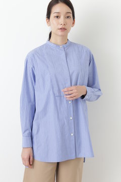 ウィブヨーク付ロングシャツ