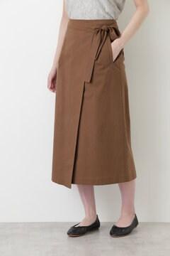 グログランストレッチラップスカート
