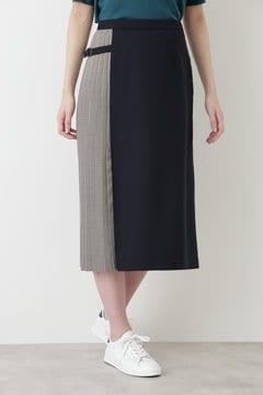 【先行予約 8月中旬入荷予定】TWチェック&ツイルプリーツスカート