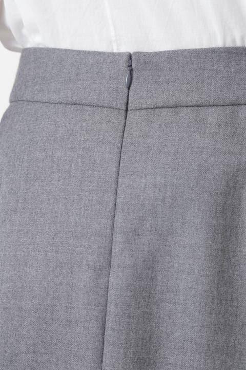 サキソニーストレッチタックフレアースカート