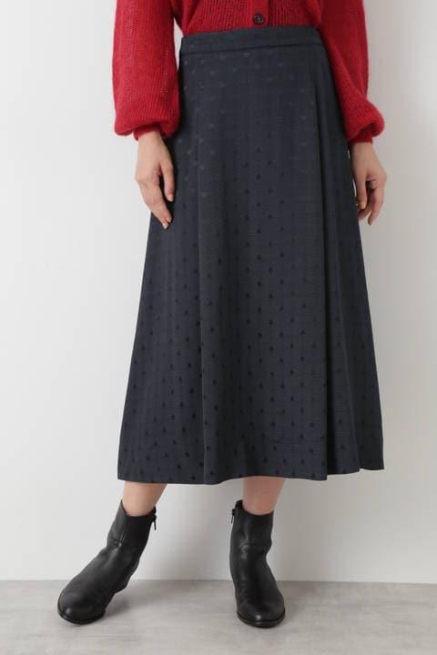 ドットジャガードスカート