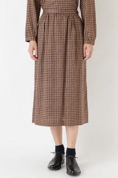 ヴィンテージチェックプリントスカート