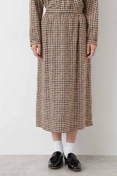 【先行予約 9月上旬入荷予定】ヴィンテージチェックプリントスカート