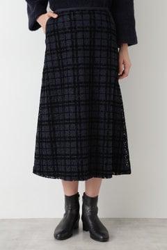 【先行予約 9月中旬入荷予定】フロッキーオンレースフレアースカート