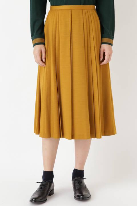 ウールジャージプリーツスカート