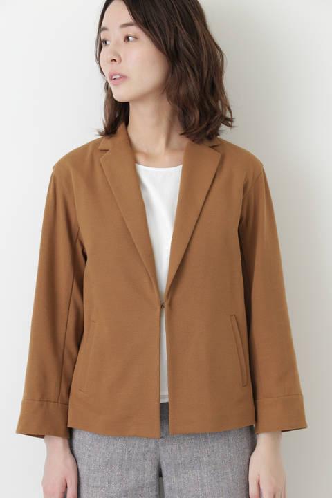 変形ワッフルテーラードショートジャケット
