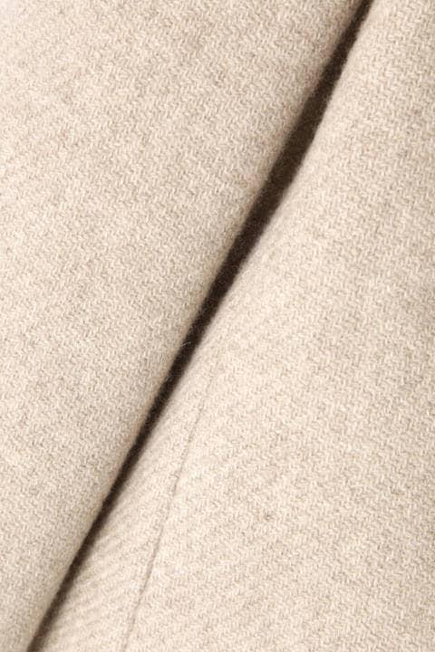 カシミア混ステンカラーコート