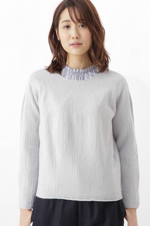 ホールガーメント求心柄プルオーバー<Japan Couture>