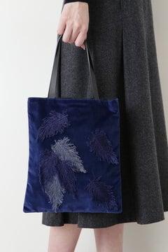 オリジナル フェザー刺繍トート
