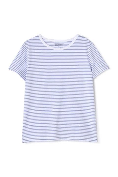 50/2新きょう綿 ボーダーTシャツ