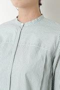 ストライプローンロングシャツ