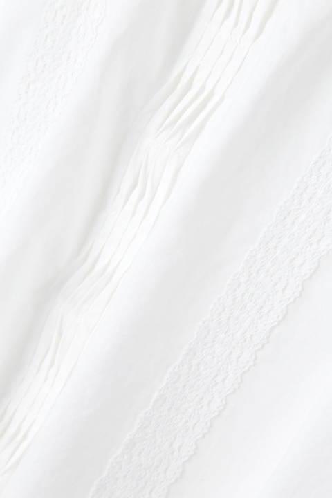 超長綿オーガニックローンブラウス
