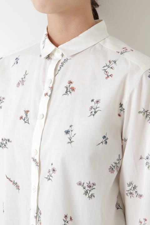 ボタニカルプリントシャツ