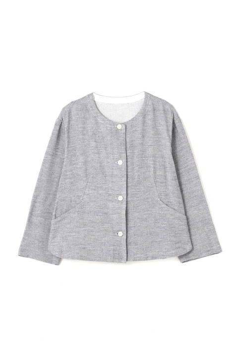 ≪Japan couture≫撚杢コットンツイルブラウス